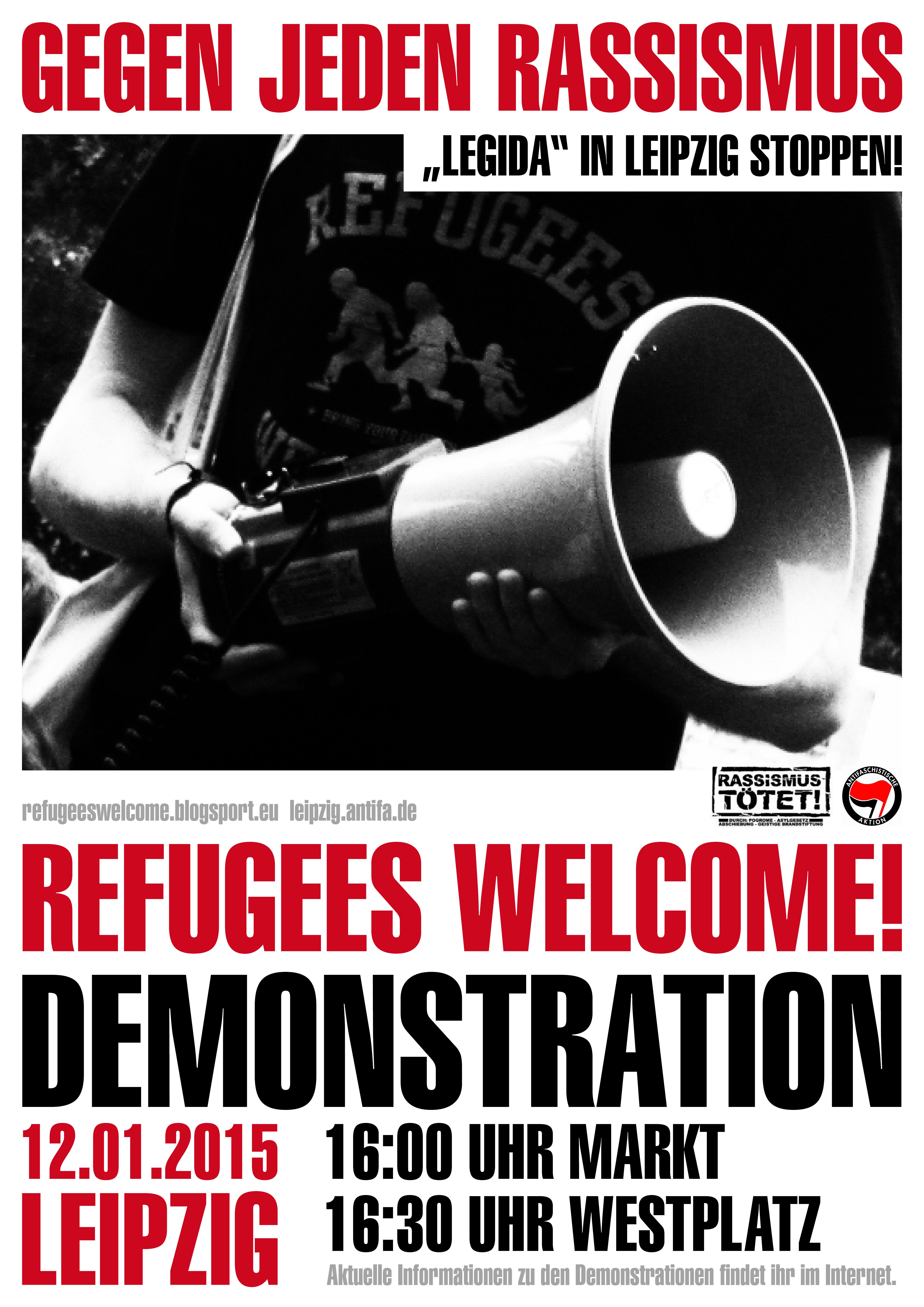 Übersicht zu protesten gegen den legida-aufmarsch am 12.01. in